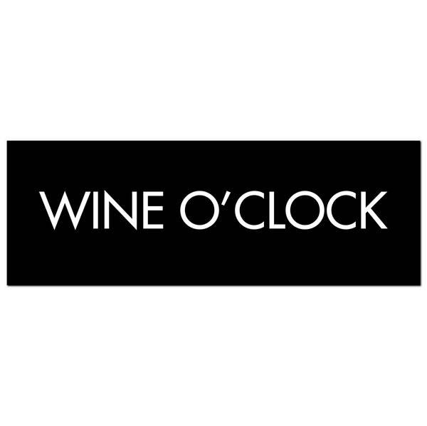 Wine O'Clock Silver Foil Plaque - Cosy Home Interiors