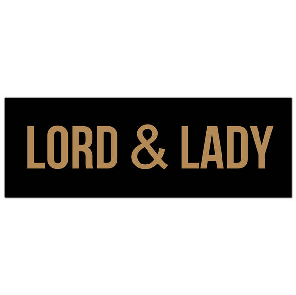 Lord & Lady Gold Foil Plaque - Cosy Home Interiors