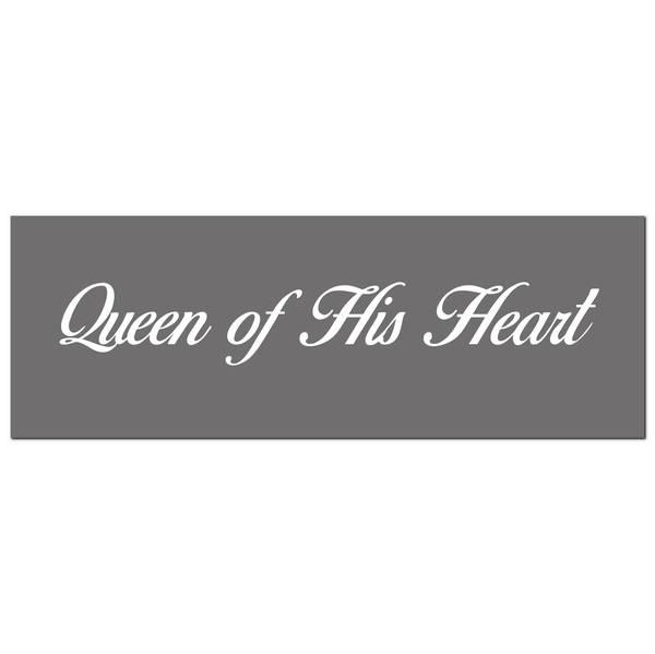 Queen Of His Heart Silver Foil Plaque - Cosy Home Interiors