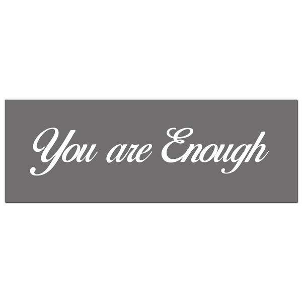 You Are Enough Silver Foil Plaque - Cosy Home Interiors