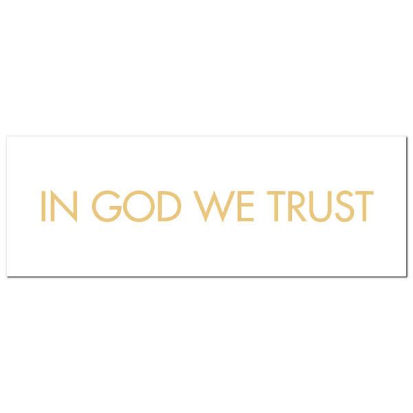 In God We Trust Gold Foil Plaque - Cosy Home Interiors