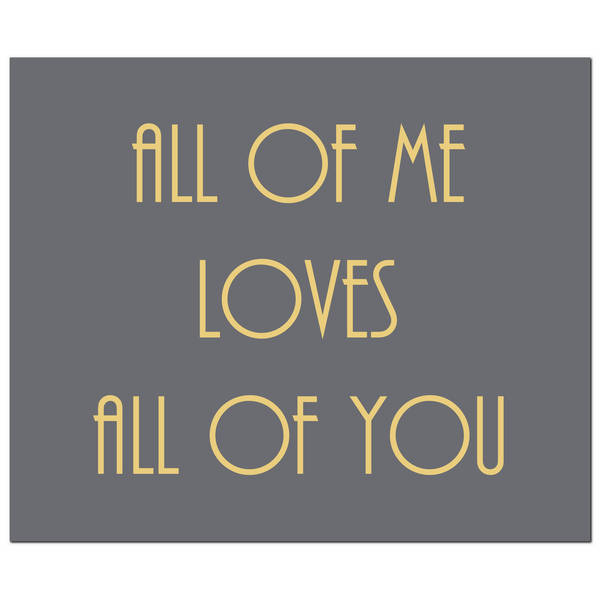 All Of Me Loves All Of You Gold Foil Plaque - Cosy Home Interiors