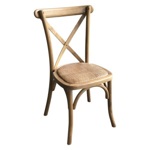 Light Oak Cross Back Bar Stool - Cosy Home Interiors