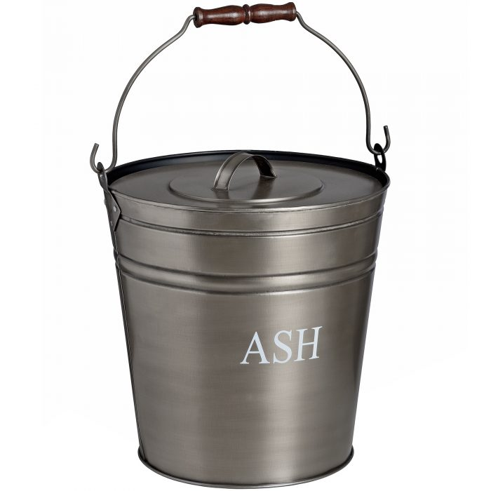 Antique Pewter Ash Bucket - Cosy Home Interiors