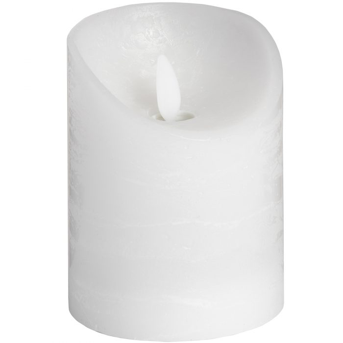 Luxe Collection 3 x 4 White Flickering Flame LED Wax Candle - Cosy Home Interiors