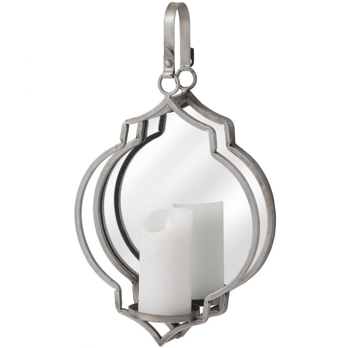 Quarterfoil Design Mirrored Candle Wallhanger - Cosy Home Interiors