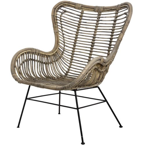 The Bali Collection Full Rattan Wing Chair - Cosy Home Interiors