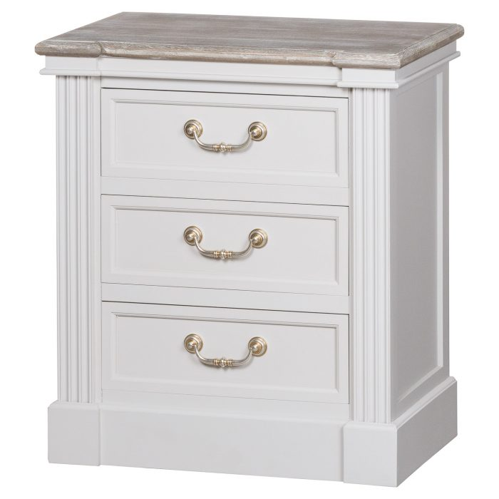 The Liberty Collection Three Drawer Bedside - Cosy Home Interiors