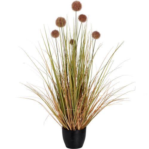 Pom Pom Grass Pot - Cosy Home Interiors