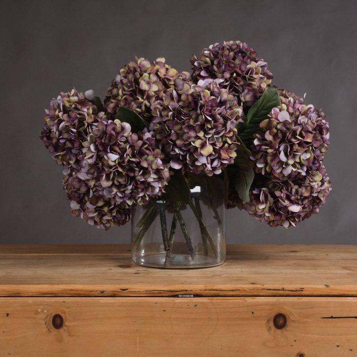 Autumn Burgundy Hydrangea - Cosy Home Interiors