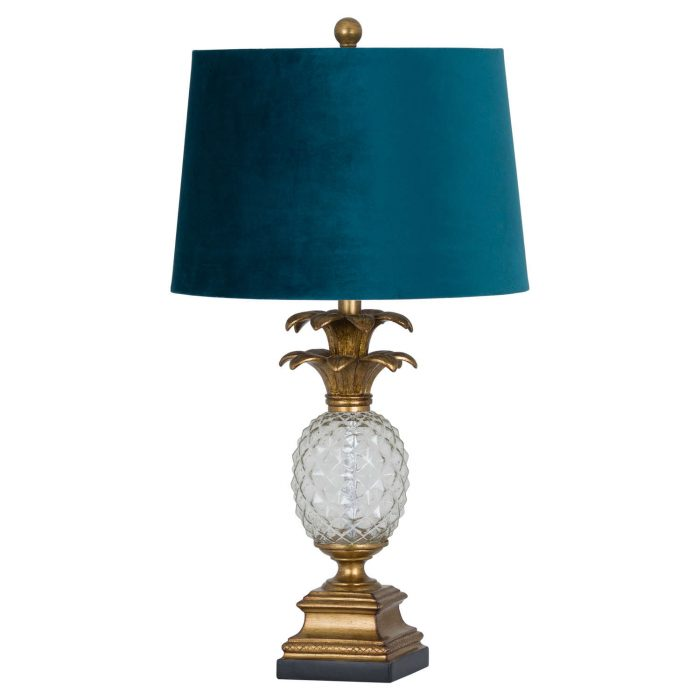 Ananas Glass Table Lamp - Cosy Home Interiors