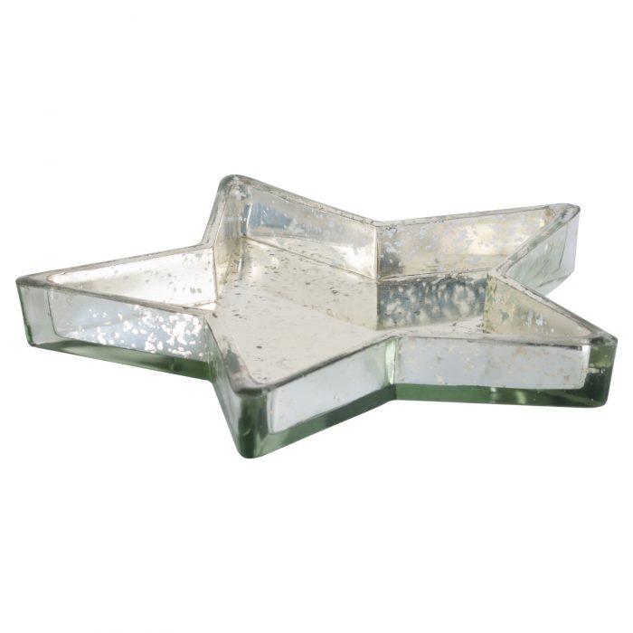 Silver Star Display Dish - Cosy Home Interiors