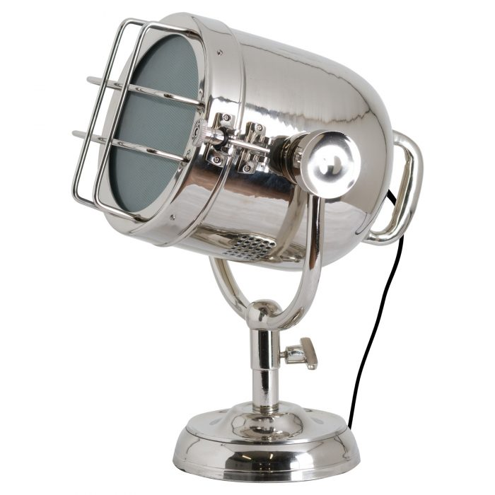 Nickel Industrial Spotlight Table Lamp - Cosy Home Interiors