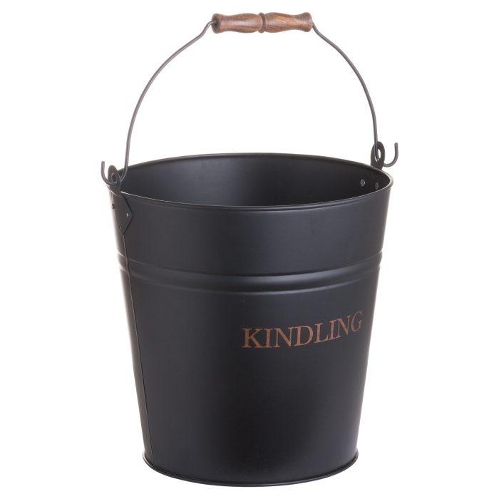 Black Kindling Bucket - Cosy Home Interiors