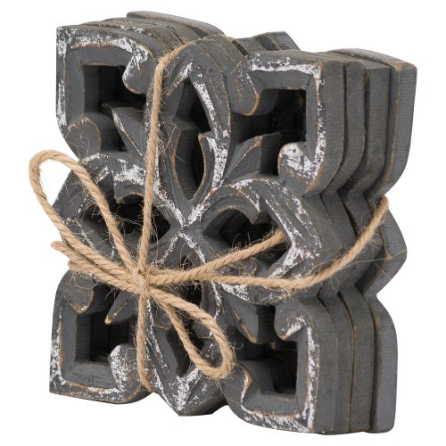Harmen Set Of 4 Antique Metallic Coaters - Cosy Home Interiors