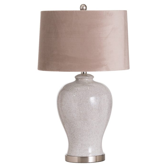 Hadley Ceramic Table Lamp With Natural Shade - Cosy Home Interiors