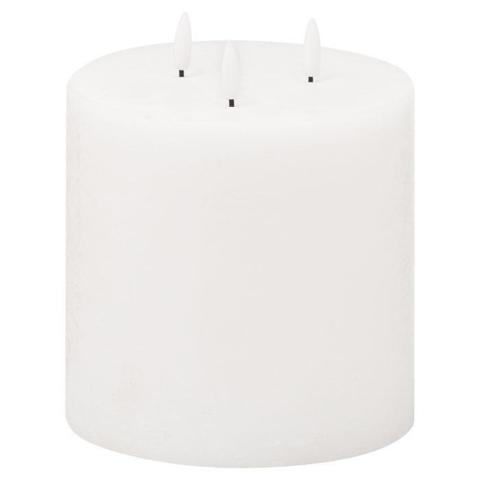 Luxe Collection Natural Glow 6x6 LED White Candle - Cosy Home Interiors
