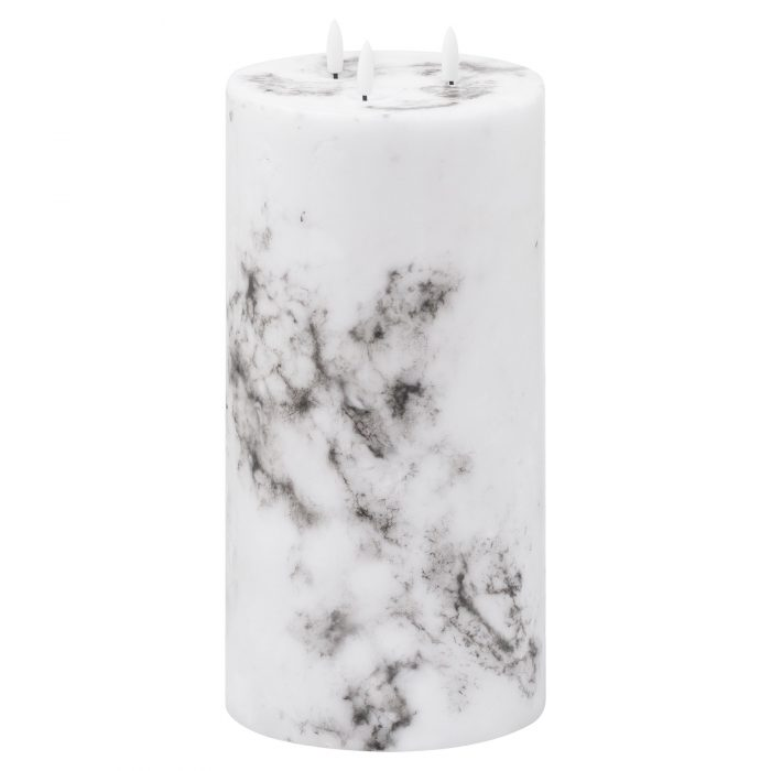 Luxe Collection Natural Glow 6x12 Marble Effect LED Candle - Cosy Home Interiors