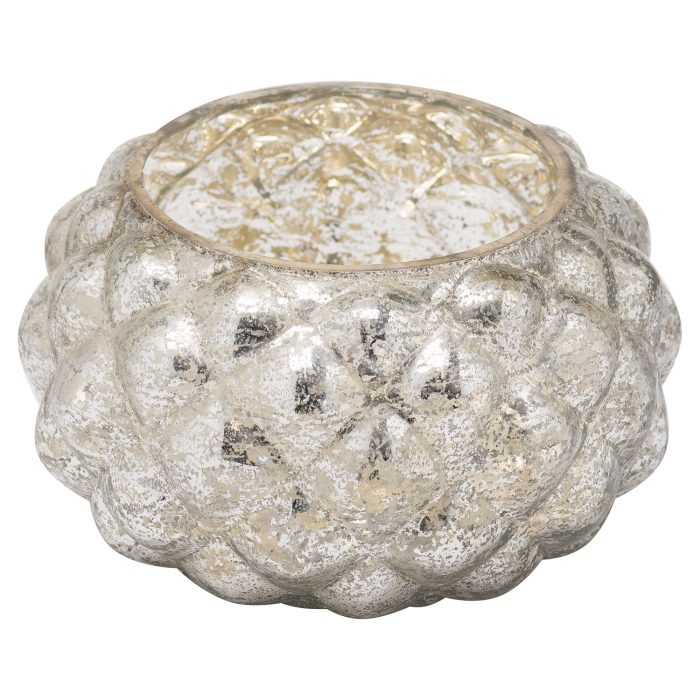 The Noel Collection Silver Foil Effect Votive Candle Holder - Cosy Home Interiors