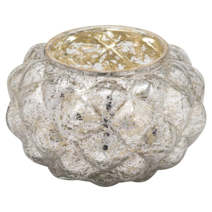The Noel Collection Medium Silver Foil Votive Candle Holder - Cosy Home Interiors