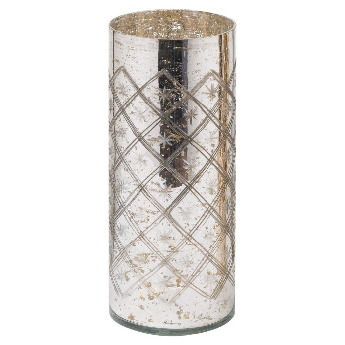 The Noel Collection Silver Foil Effect Vase - Cosy Home Interiors