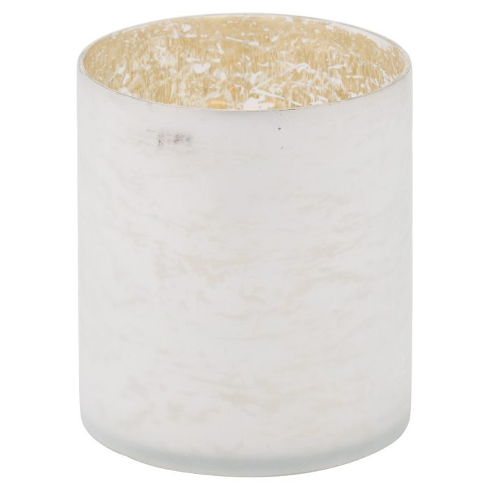 The Noel Collection White Pillar Candle Holder - Cosy Home Interiors