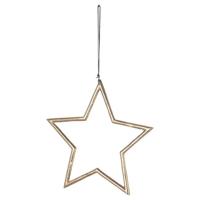 The Noel Collection Hanging Large Brass Star - Cosy Home Interiors