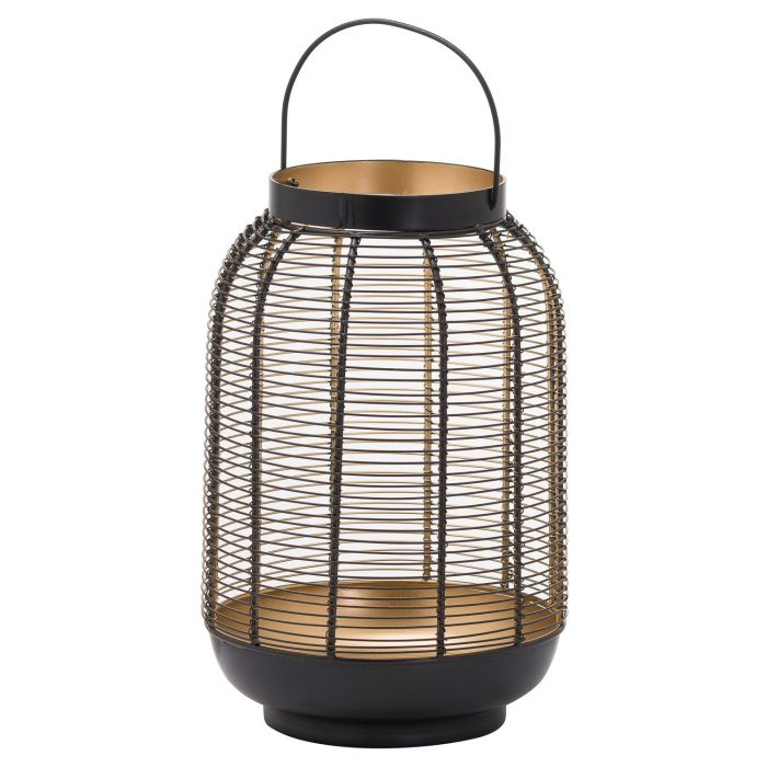 Medium Black Glowray Wire Lantern - Cosy Home Interiors