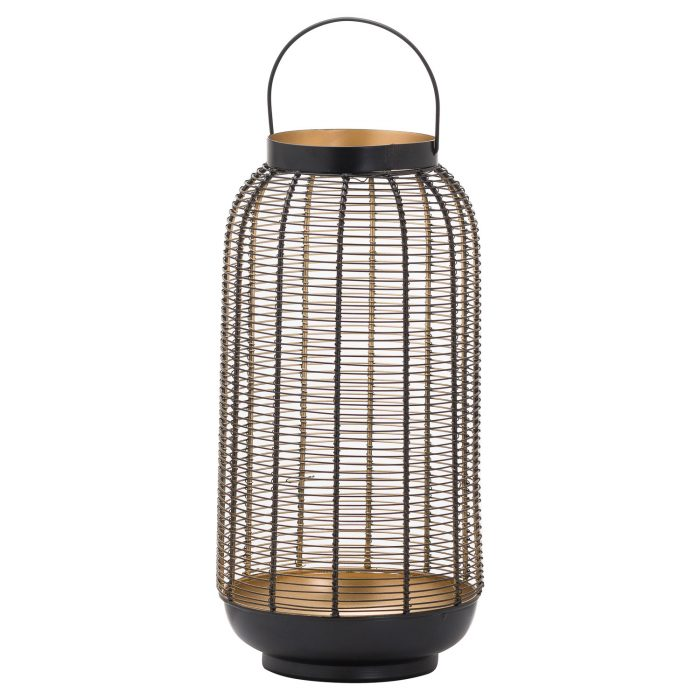 Large Black Glowray Wire Lantern - Cosy Home Interiors