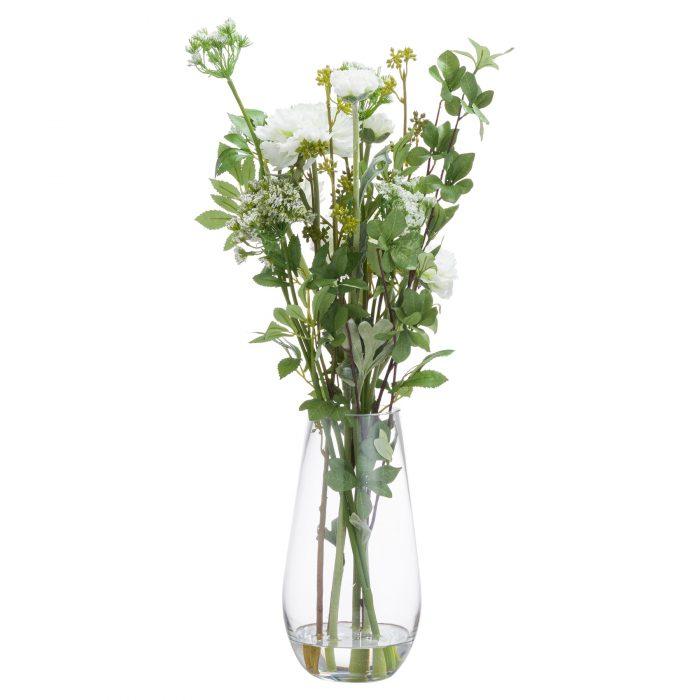 Large Peony Arrangement In Glass Vase - Cosy Home Interiors
