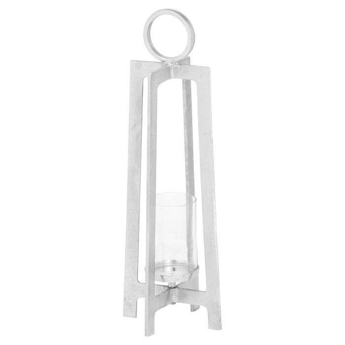 Farrah Collection Silver Lantern - Cosy Home Interiors