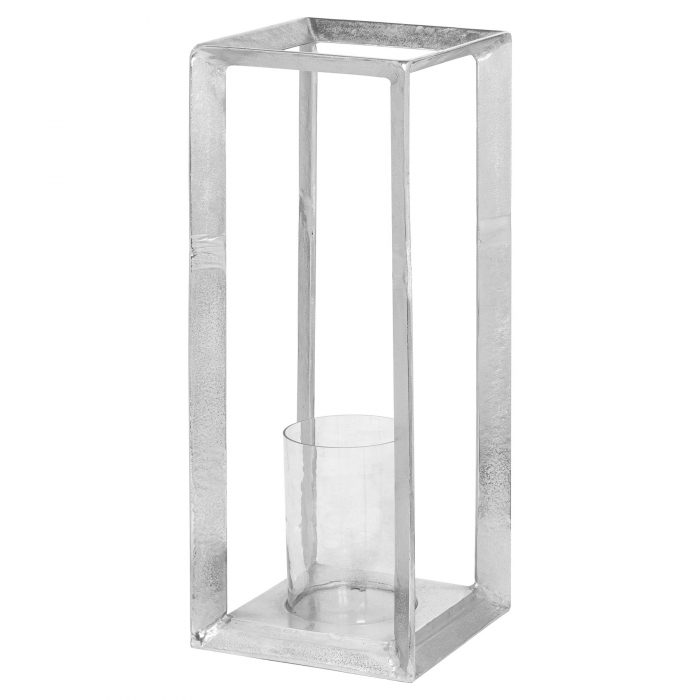 Farrah Collection Large Silver Candle Stand - Cosy Home Interiors
