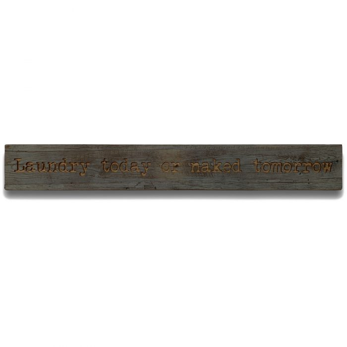 Laundry Grey Wash Wooden Message Plaque - Cosy Home Interiors