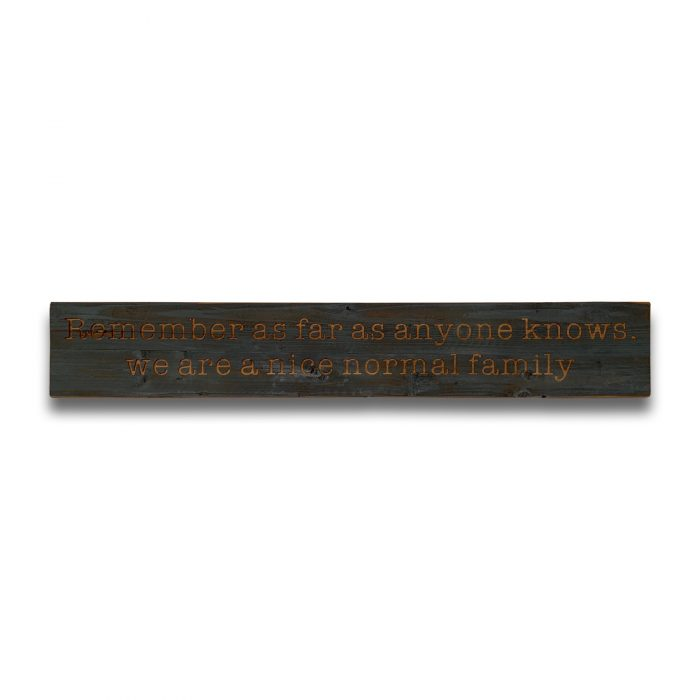 Normal Family Grey Wash Wooden Message Plaque - Cosy Home Interiors