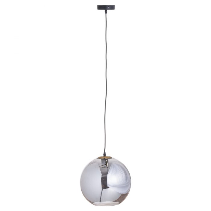 Smoked Glass Large Globe Hanging Pendant - Cosy Home Interiors