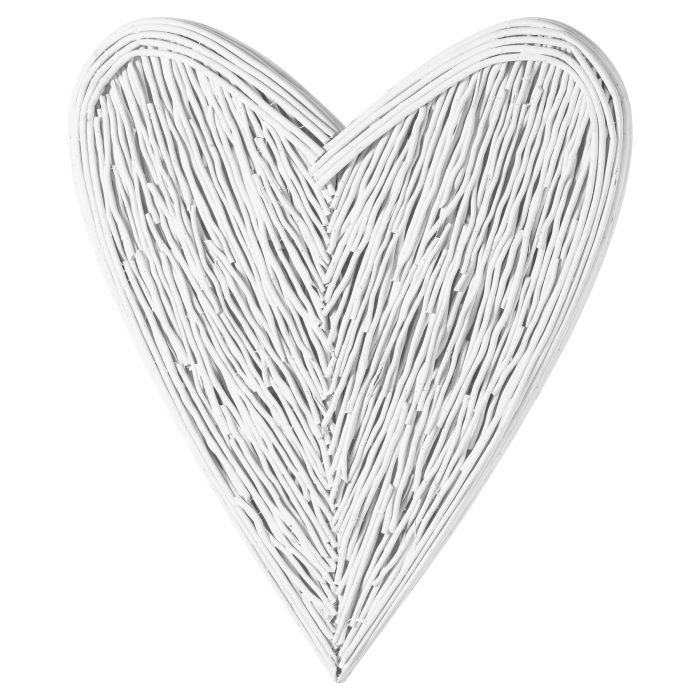 Large White Willow Branch Heart - Cosy Home Interiors