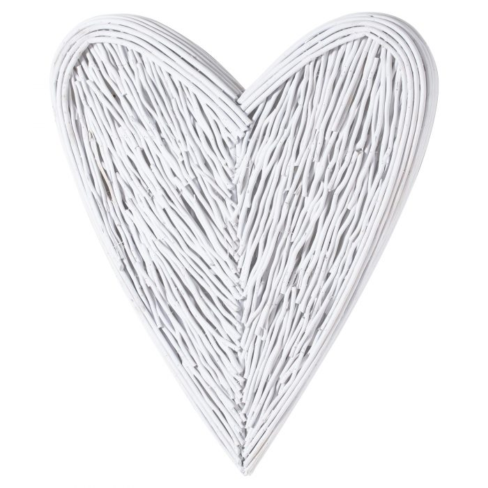 White Willow Branch Heart - Cosy Home Interiors