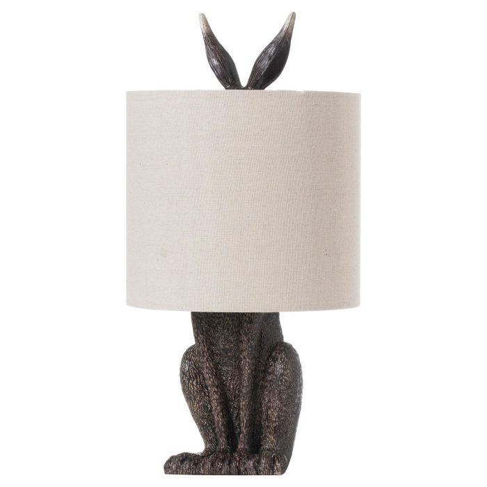 Hare Table Lamp With Linen Shade - Cosy Home Interiors