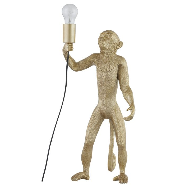 Chip The Monkey Standing Gold Table Lamp - Cosy Home Interiors