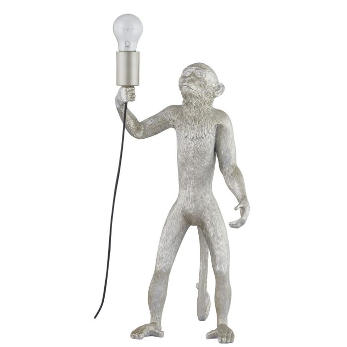 Chip The Monkey Standing Silver Table Lamp - Cosy Home Interiors