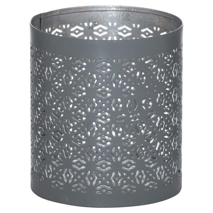 Small Silver And Grey Glowray Lantern - Cosy Home Interiors
