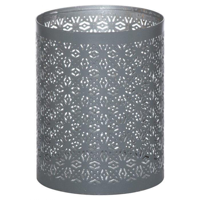 Medium Silver And Grey Glowray Lantern - Cosy Home Interiors
