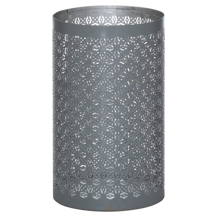 Large Silver And Grey Glowray Lantern - Cosy Home Interiors