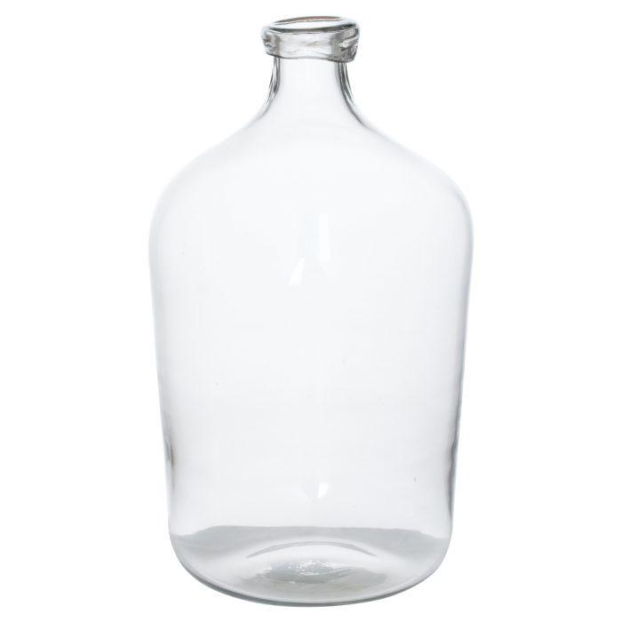 Tall Bulbous Narrow Neck Glass Vase - Cosy Home Interiors