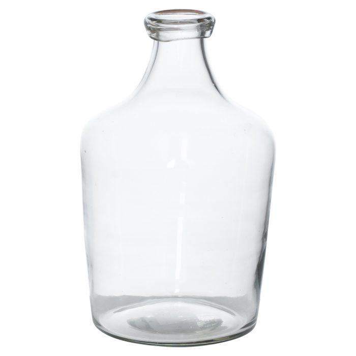 Bulbous Narrow Neck Glass Vase - Cosy Home Interiors