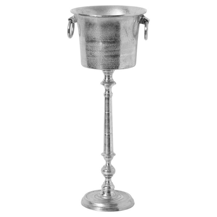 Large Cast Aluminium Standing Champagne Cooler - Cosy Home Interiors