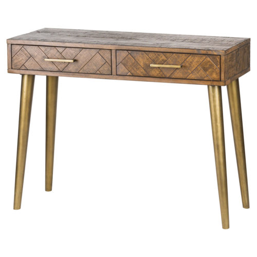 Havana Gold 2 Drawer Console Table - Cosy Home Interiors