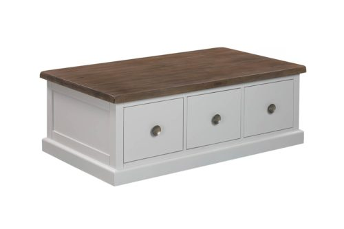 The Hampton Collection Three Drawer Coffee Table - Cosy Home Interiors